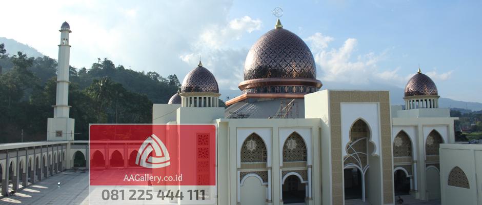 kubah masjid lampu masjid ornamen masjid dari tembaga kuningan-01