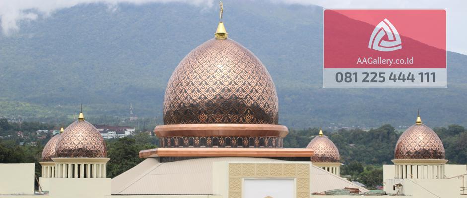kubah masjid lampu masjid ornamen masjid dari tembaga kuningan-03