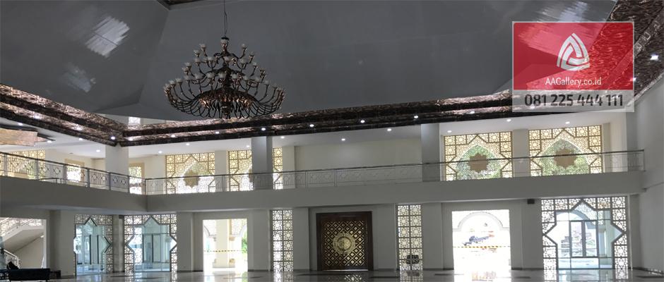 kubah masjid lampu masjid ornamen masjid dari tembaga kuningan-05