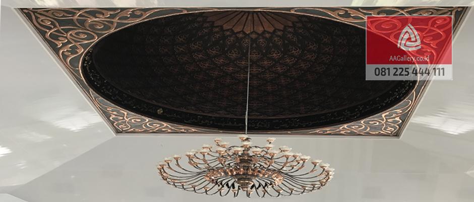 kubah masjid lampu masjid ornamen masjid dari tembaga kuningan-06